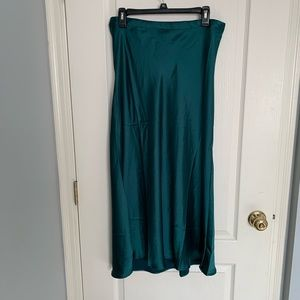 Rachel Zoe forest green midi skirt